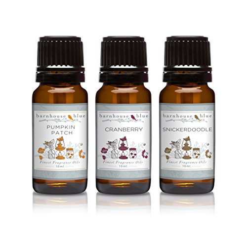 Trio (3) - Barnhouse Blue - Pumpkin Patch, Cranberry & Snickerdoodle - Premium Fragrance Oil Trio - 10ml]()