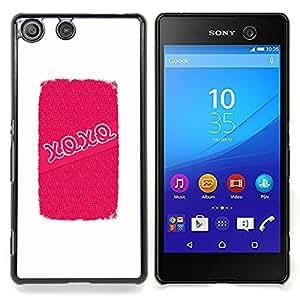 For Sony Xperia M5 E5603 E5606 E5653 Case , Abrazos Besos de amor de San Valentín blanca - Diseño Patrón Teléfono Caso Cubierta Case Bumper Duro Protección Case Cover Funda