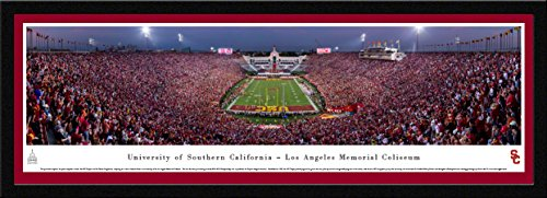 USC Trojans Football - 42x15.5-inch Single Mat, Select Framed Picture by Blakeway Panoramas
