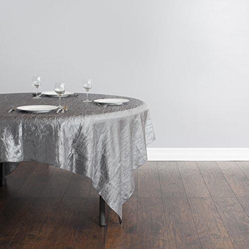 LinenTablecloth Square Crinkle Taffeta Overlay, 85