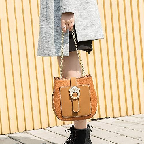 signore Flysxp versione casual della 23x9x22cm con nero cubo a colore marrone forma 2 borsa coreana retrò spalla spalla 4gqCg6w