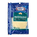 Kraft Natural Provolone Deli Fresh Cheese Slice, 8 Ounce -- 10 per case.