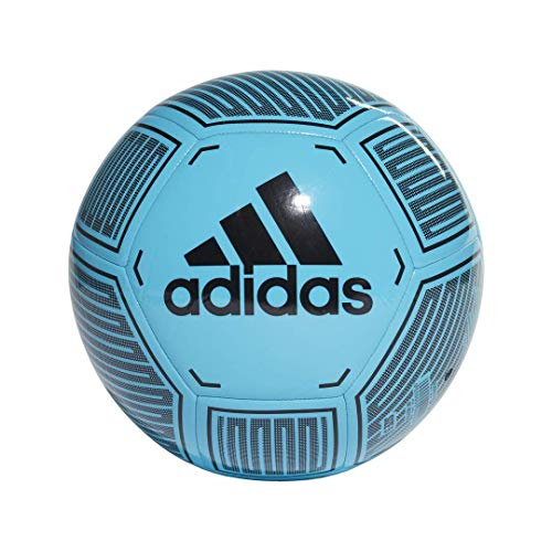 Starlancer VI Soccer Ball, Bright Cyan/Black/White, 4 (Soccer Ball Size 4 Pack)