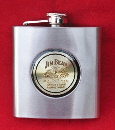 Jim Beam Whiskey Stainless Steel Flask