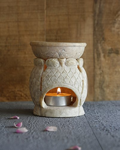 diwali-gifts-owl-themed-essential-oil-burner-warmer-natural-soapstone-aroma-diffuser-with-votive-tea