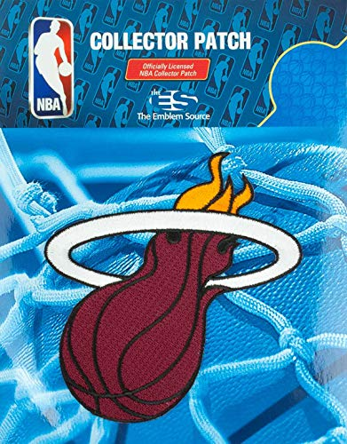 Miami Heat NBA Authentic Licensed Primary Team Logo Embroidered Collectors - Nba Team Patch