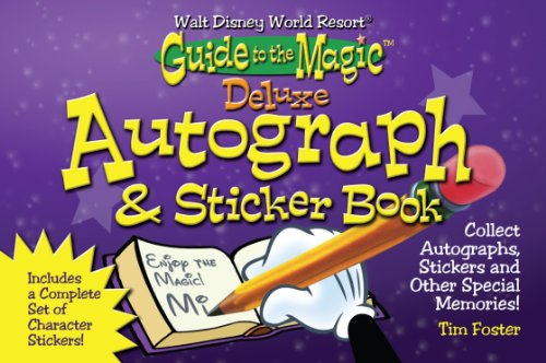 Walt Disney World Deluxe Autograph & Sticker Book