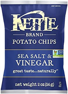 product image for Kettle Chips, Sea Salt and Vinegar, 2 Ounce, 6 Count Caddy