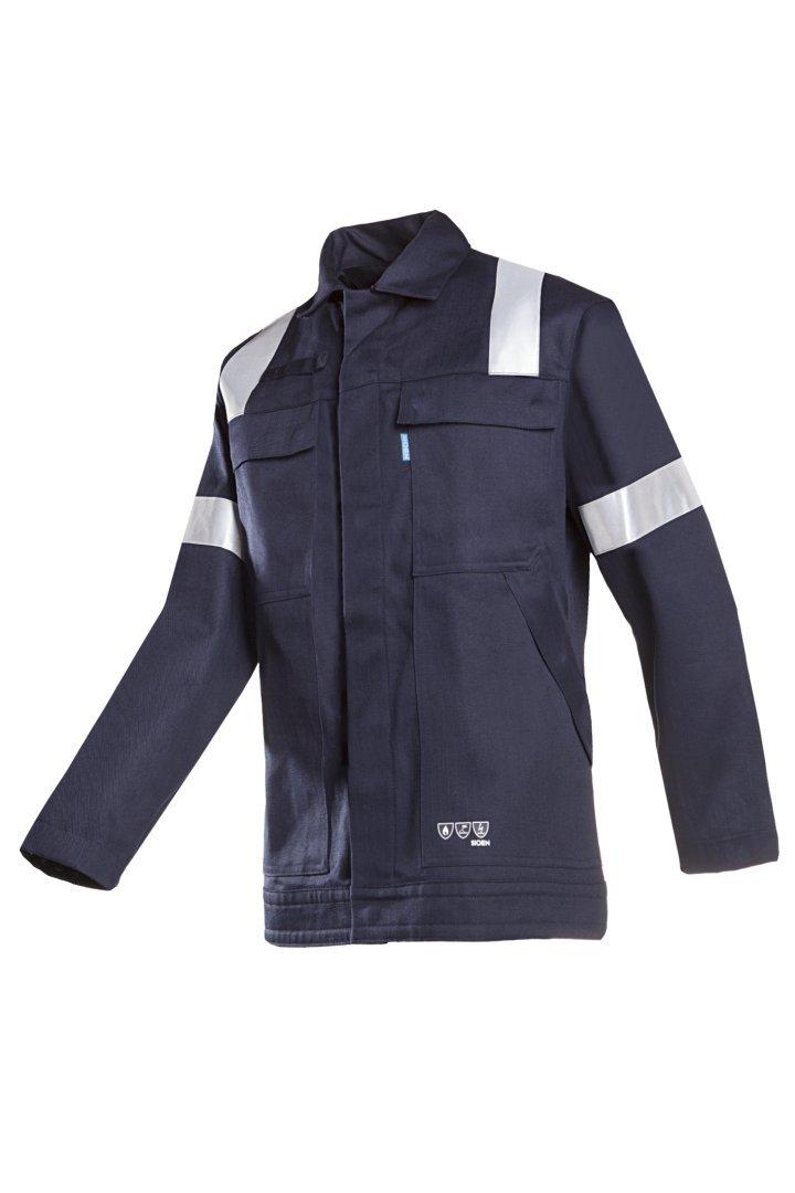 Chaqueta antiest/ática retardante de llama, EUR62 color azul marino SIOEN 002VA2PIFB98062 Novara