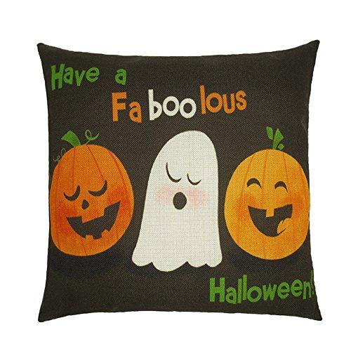 Pumpkin Pillow Cases, Keepfit Halloween Special Home Sofa Decor Cushion Cover Ghosts Cartoon Hot Sale (Halloween S) -