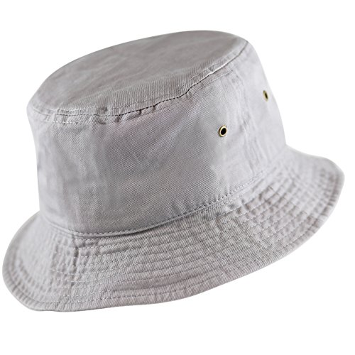 ce2a5bd18566d5 THE HAT DEPOT 300N Unisex 100% Cotton Packable Summer Travel Bucket Hat  (L/XL, Grey) < Hats & Caps < Clothing, Shoes & Jewelry - tibs