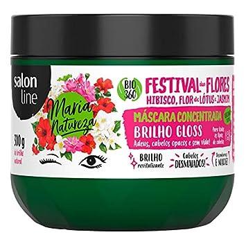 Linha Tratamento (Maria Natureza) Salon Line - Mascara Festival Das Flores Brilho 300 Gr