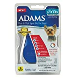 Adams Flea and Tick Spot On for Toy Dogs 6-to-12-Pound with Smart Shield Applicator, 3 Month Supply, My Pet Supplies