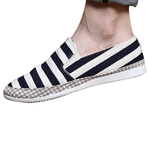 Hee Grand Men Fashion Casual Slip On Low Top Espadrille Flats Shoes US 8.5 Dark Blue