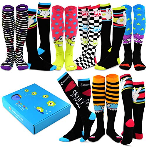 TeeHee Special (Holiday) Women Knee High 9-Pairs Socks with Gift Box (Halloween)