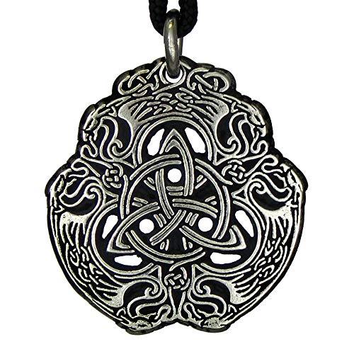 Pewter Eagle Celtic Knot Triquerta Trinity Knotwork