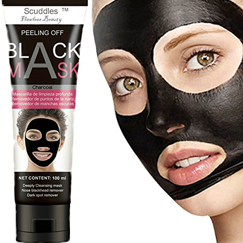 All Natural Charcoal Blackhead Mask Made With 2: Blackhead Remover Charcoal Face Black Mask