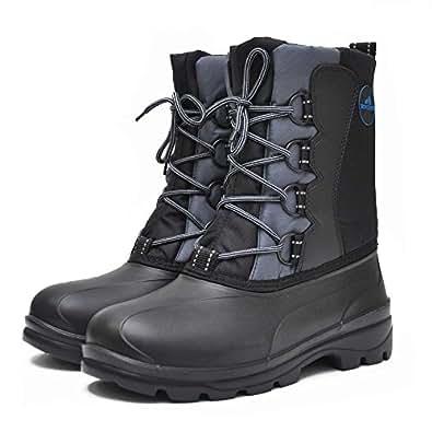 Amazon.com | Men's Waterproof Warm Snow Boots Winter