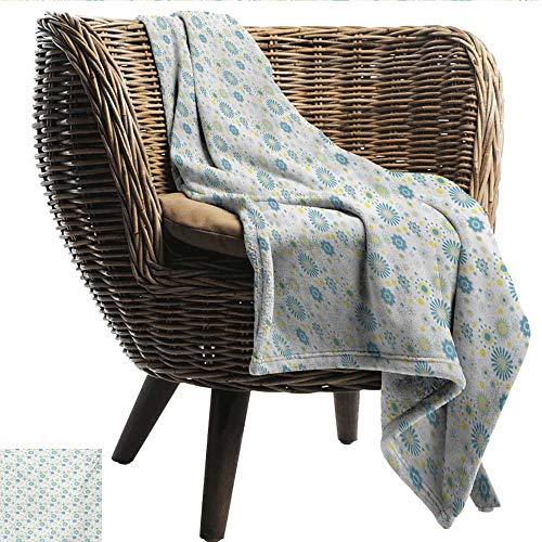 - EwaskyOnline Yellow and Blue Family Blanket Spring Nature Inspired Pattern Flower Figures Scrapbook Style Throw Blanket Adult Blanket 84