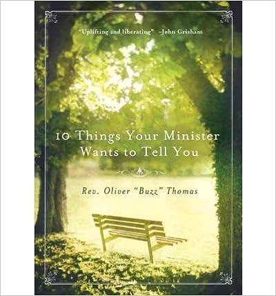 Paras äänikirja ladattavissa ilmaiseksi 10 Things Your Minister Wants to Tell You B0091JGSL6 PDF
