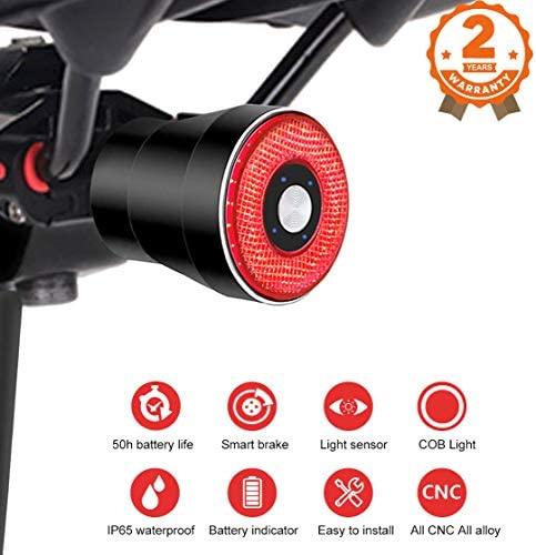 Rechargeable Sensing Intensity Accessories Taillights