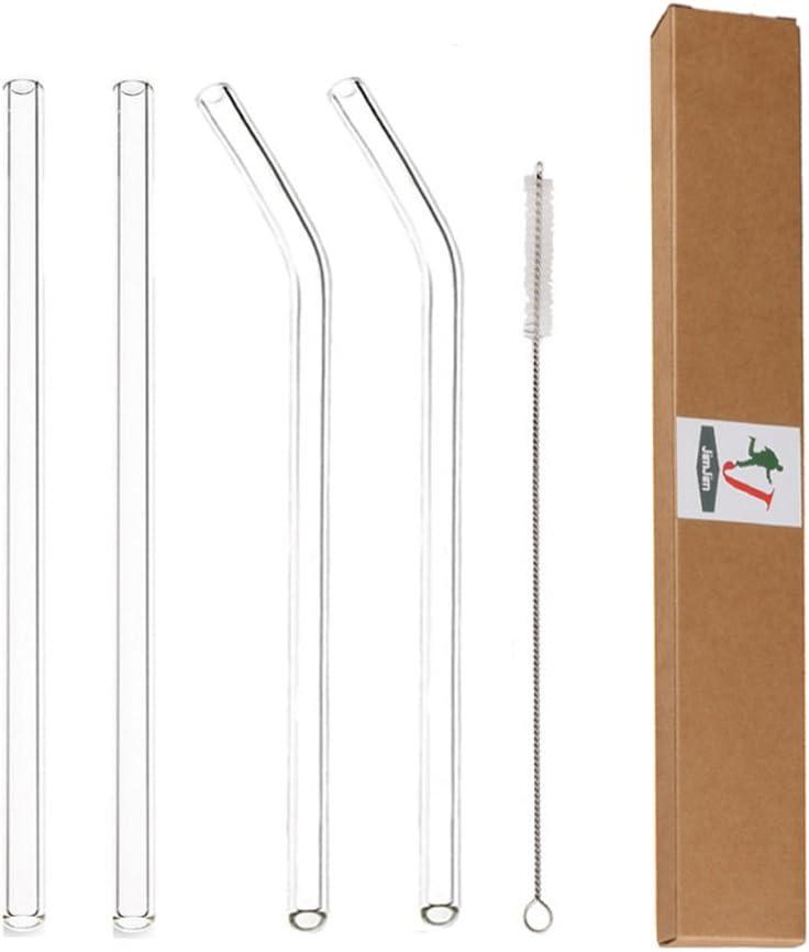Re-usable glass straws