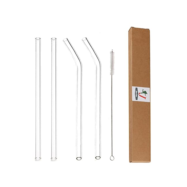 Glass Straws Clear 9