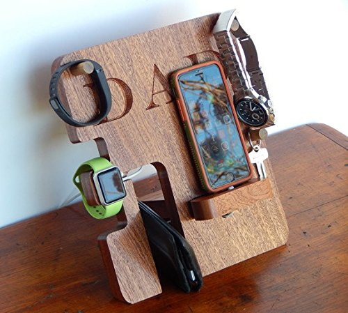 eCraftIndia All in 1 Multiutility Mobile, Spectable, Watch , keys and Wallet Holder Gift Set for Father/Dad by eCraftIndia