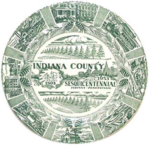Vintage 1953 Indiana County Pennsylvania Sesquicentennial Collector Plate