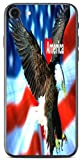 I Love America Quote USA Flag with Eagle Design Print Image iPhone 7 Vinyl Decal Sticker Skin