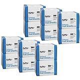 ForPro Embossed Foil Sheets 500S, Aluminum Foil, Pop-Up Dispenser, 5''Wx10.75''L, 6000-Count (Pack of 12, 500 Foil Sheets)