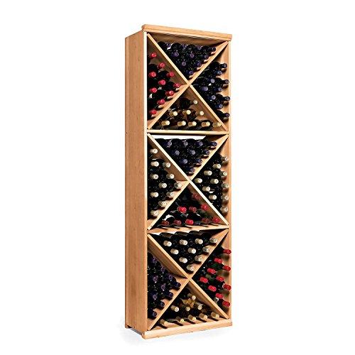 - N'FINITY Wine Rack Kit - Diamond Cube - Natural Finish - Solid Mahogany