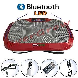 2017 Red Ultrathin Mini bluetooth Vibration Platform Massage Machine Fitness Gym