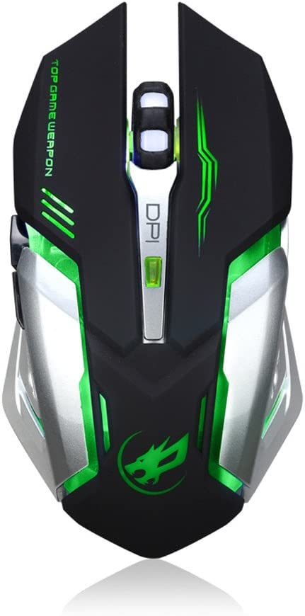 JF12 Rechargeable T1 Wireless Silent LED Backlit USB Optical Ergonomic Gaming Mouse