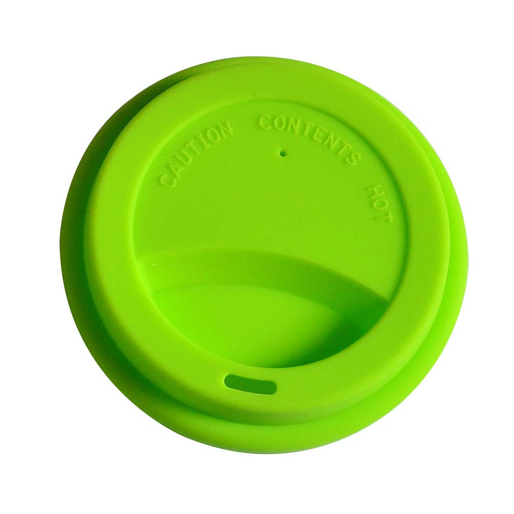 Dust-proof Silicone Drinking Lid Mug Cover Cap, -40 ℃-230℃ Heat Resistant Coffee Cup Covers/Lids Reusable Kitchen Tools (Green)