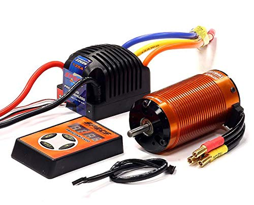Integy RC Model Hop-ups E2080 Specs 4074 BL 2200Kv Sensored, 2S-4S ESC 135A for E-Maxx, E-Revo (-2017) & 1/8