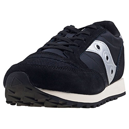 Saucony Youth Jazz Original Vintage A17000-2 Leather Trainers Black