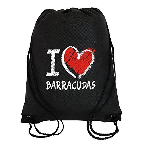 Idakoos - I love Barracudas chalk style - Animals - Sport Bag