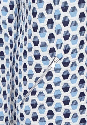 Veste Femme 38 Bleu Street Damassée Manches Blue Deep blau Uni Foncé Blouson One Longues 0BqwE1