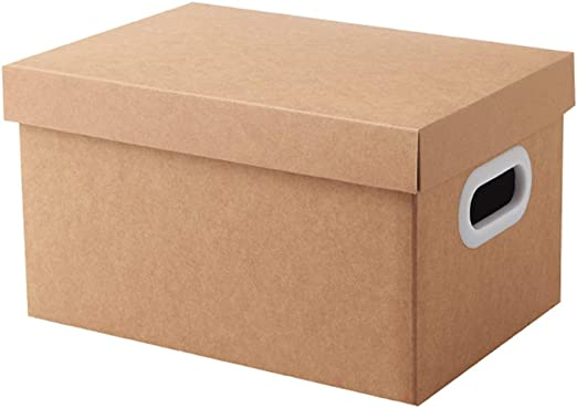 Yqqcf Caja de Almacenamiento de Escritorio de Papel Kraft de Alta Capacidad Tamaño A4 Organizador de Papel Archivo Documento Carpeta de Revista para Escuela de Oficina en casa,32×22×20CM: Amazon.es: Hogar