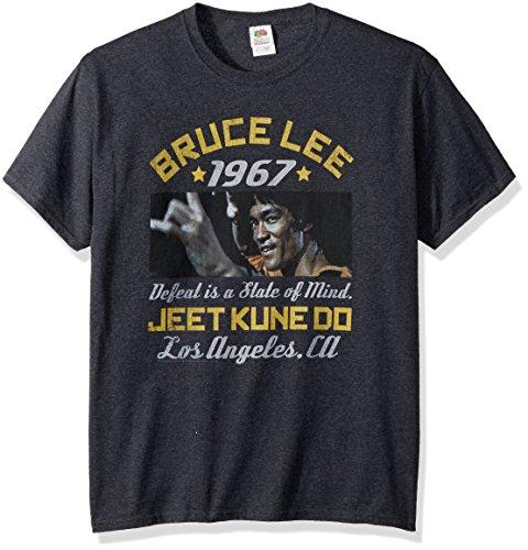 American Classics Unisex Bruce Lee Box Smirk Adult Short Sleeve T-Shirt, Black Heather, XLarge Adult Short Sleeve Heather