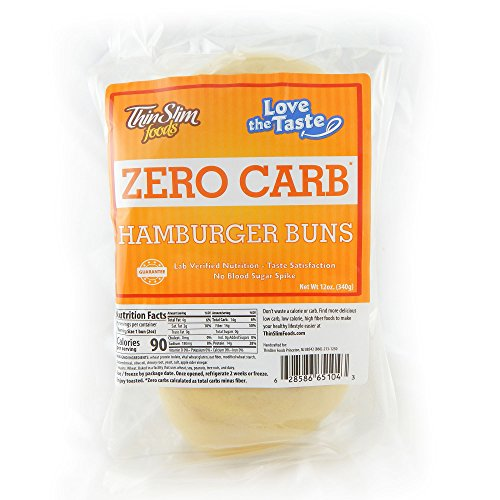 ThinSlim Foods 90 Calorie, 2g Net Carb, Love The Taste Low Carb Hamburger Buns