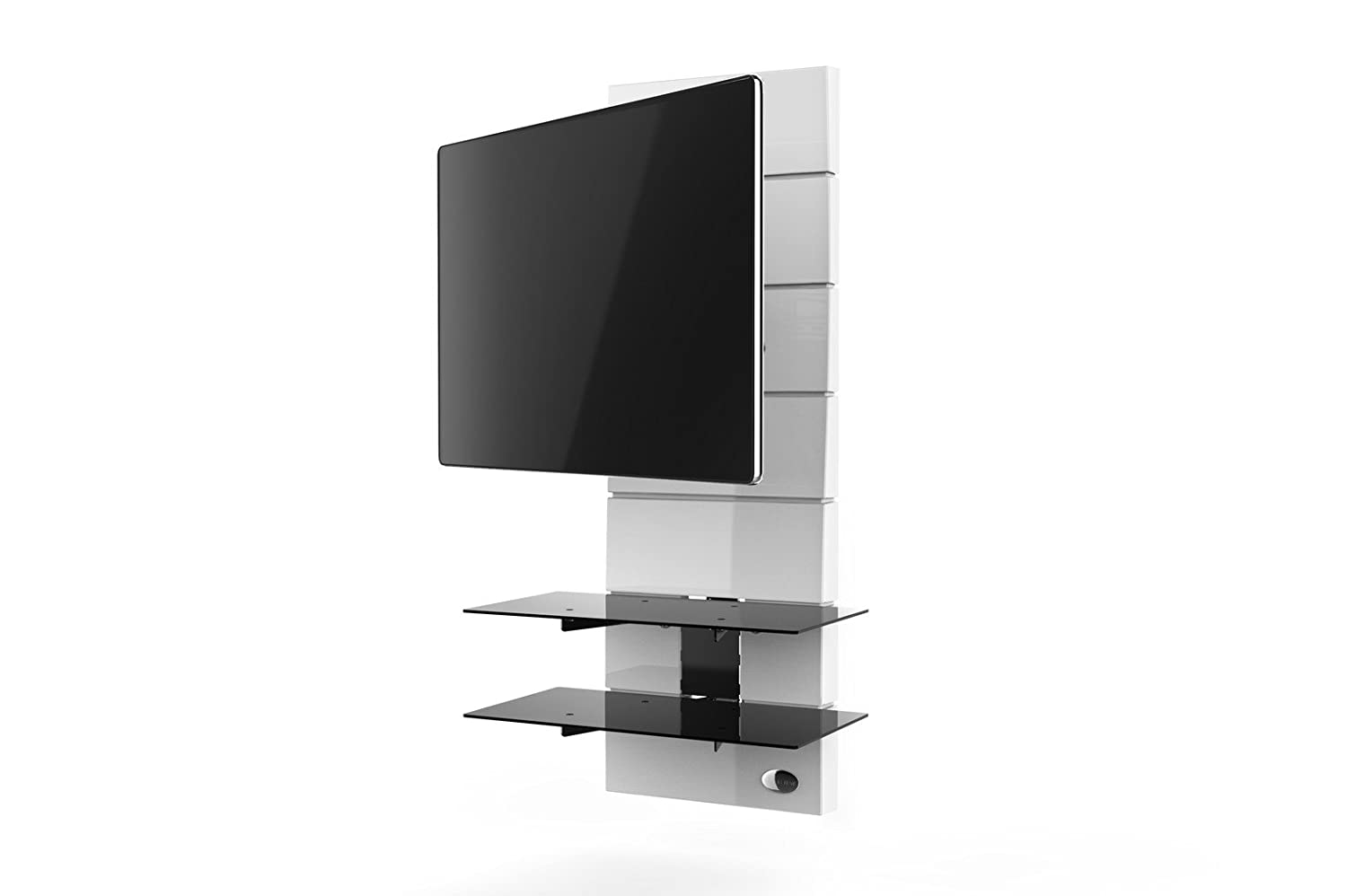 Meliconi Ghost Design 3000 R Meuble Pour Tv Blanc Amazon Fr Tv  # Meuble Tv Pivotant Design