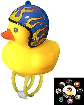 Cartoon Duck Bike Front Head Light Headlamp Bicycle Bell Handlebar Flashing Lamp