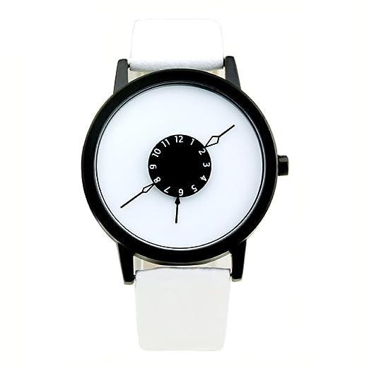segunda mano de subversión y creativo reloj/Puntero tejido de acero único ángulo invertido de correa de reloj-D: Amazon.es: Relojes