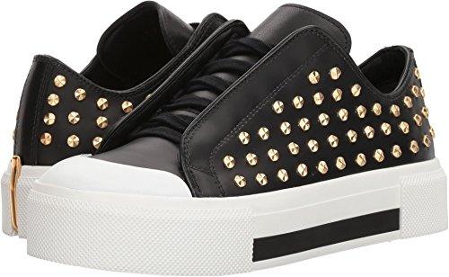 Alexander Mcqueen Kvinna Låg Cut Lace-up Sneaker Svart / Vit / Svart / Svart / Guld