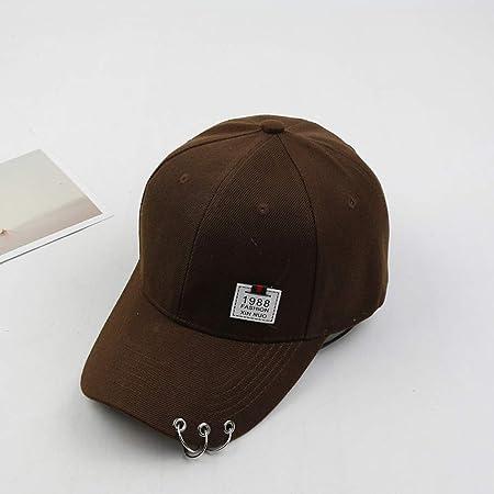 zhuzhuwen Sombrero de Visera Smiley Label Gorra de béisbol con ...