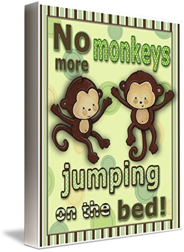 Wall Art Print entitled No More Monkeys (In Green) by Cheryl Marie | 8 x 10