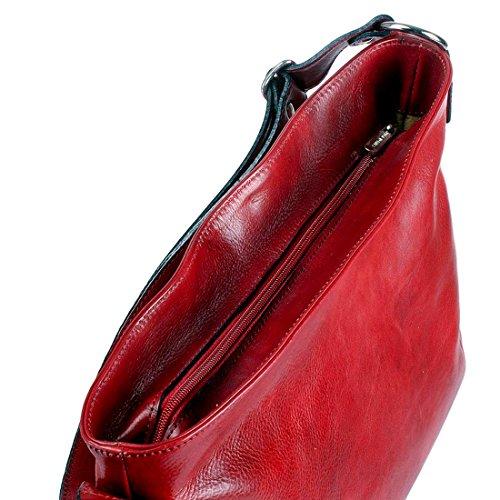 Vera Borsa 39x13 Italia a rosso Shopper mano cm Pelle MICHELANGELO ROSSO H28 Pelle Azalea Fatto in in 0gUSxSIq