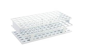 White Full-Size Polypropylene Test Tube Racks 13mm 72 Place pk of 8